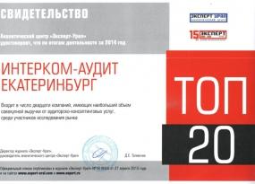 Рейтинг Эксперт-Урал 2014
