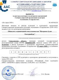 Выписка из реестра аудиторов и аудиторских организаций